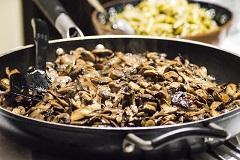 Pilzgericht ohne Pilze